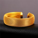 Gold Color / Stainless Steel Cuff Bracelet For Men 2015 <b>Fashion</b> <b>Jewelry</b> Rock Bracelets Bangles Big GH1628
