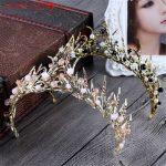 XIAONIANSHI Floristic Crystal&Pearl Handmade Tiara Crown Hair <b>Jewelry</b> Summer Bridal Hair Accessories Best Head Piece Hair Pins
