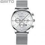 <b>Silver</b> Lady Dress Watch Elegant Stainless Steel Fashion Casual Business Female Quartz Wristwatch Popular GIMTO Ladies Clock
