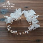 1pc Bridal'hair Garland Hairband Corolla Crown Feather Floral Flower Wedding Headpiece For Hair Ornaments <b>Jewelry</b> Accessories