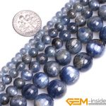 Round Blue Kyanite Beads,Selectable Size 4mm To 12mm,Fshion <b>Jewelry</b> Beads For Women Bracelet <b>Making</b>,Strand 15″ Free Shipping