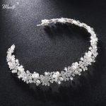 Miallo Luxury Clear Crystal Bridal Hair Vine Pearls Wedding Hair <b>Jewelry</b> Accessories Headpiece Women Crowns Pageant HS-J4506