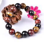 Drop shipping 14mm Bead Bracelets Natural Multi Color Tiger Eye Bracelets Stone Tibetan Mala <b>Handmade</b> Bracelet Jades <b>Jewelry</b>