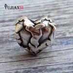 925 <b>Silver</b> Hearts Beads for DIY Jewelry Making 4.5mm Hole Charm Fits European Original Troll Bracelet & <b>Necklace</b>