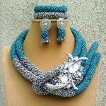 Sky Blue <b>Silver</b> African Chunky Beads Jewelry Sets Fashion Nigerian Wedding Jewelry Sets Women New Free Shipping WD924