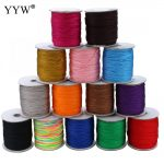180Yards 1.5 MM Waxed Nylon Cord Plastic Spool String Strap Wholesale Necklace Rope Bead For Necklace Bracelet <b>Making</b>
