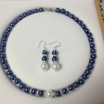 New Hot Fashion 8-12mm Blue Shell Pearl Necklace Earring Set Women and Girl Gift <b>Jewelry</b> <b>Making</b> Design Wholesale Price 18″ Hp013