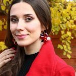 eManco women's trendy luxury earring with black stud red pendant classic earring For2017 New Fashion Earring <b>Jewelry</b> <b>Accessories</b>