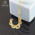 Lotus Fun Genuine 925 Sterling <b>Silver</b> Handmade Fine <b>Jewelry</b> Ethnic Design Pendant without Necklace Acessorios for Women