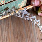 The Clover Full Zircon Tiara Bride Micro Pave CZ Crown Headband <b>Wedding</b> Hair Accessories Diadem <b>Jewelry</b> Tiaras Coroa WIGO0953
