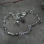 Cross <b>Bracelet</b> 925 Sterling <b>Silver</b> Bangle Women Jewelry Crown Anchor Skull Clover Charms <b>Bracelet</b> Famous Brand Thailand TYC132