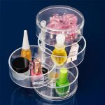 Round Rotatable Storage Boxes Cosmetic <b>Jewelry</b> Organizer <b>Fashion</b> Clear Makeup Box Bins Women Cosmetic Storage Promotional