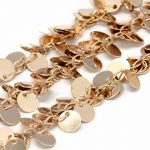 3 Styles 1 meter/lot Handmade Brass Chains for <b>Jewelry</b> <b>Making</b> DIY Findings Hot, Soldered, with Flat Round Leaf Horse Eye Charms