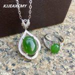 KJJEAXCMY Fine jewelry, 925 <b>silver</b> inlaid natural Jasper set, simple and generous, women's wholesale