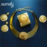 OUMEILY <b>Jewelry</b> Sets Women Dubai Turkish Ethiopian Wedding Costume Bridal African Nigerian Beads Choker <b>Necklace</b> <b>Jewelry</b> Set