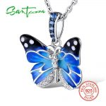 Santuzza <b>Silver</b> Pendants For Women Natural Stone Pendant fit for <b>Necklace</b> 925 Sterling <b>Silver</b> Slide <b>Necklaces</b> Pendant Enamel