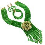 <b>Handmade</b> 2018 Nigerian Wedding African Beads <b>Jewelry</b> Set Green Pale Green Crystal Beads Necklace <b>Jewelry</b> Set 6C-SDLS-020