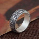 925 Sterling <b>Silver</b> Ring Animal Pattern 100% Real S925 Thai <b>Silver</b> Rings for women <b>Jewelry</b> Male Men Size 6-12.5