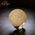 Mytys Pave Setting Crystal Luxury Chunky Ring Ball Shape <b>Fashion</b> Gorgeous High Quality <b>Jewelry</b> New Big Rings R1048 R1049