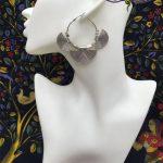 Geometric Earrings of Indian Middle Eastern Tribes Old Silver <b>Handmade</b> Circle <b>Jewelry</b> BOHO Hippie Thai Pakistan Turkey Morocco