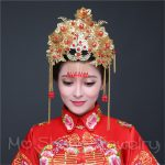 Chinese Traditional Classical Bridal <b>Jewelry</b> Headdress <b>Handmade</b> Hair Accessories Butterfly Flowers Gold Color Wedding Hair Jewel