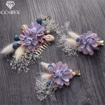 CC Hair Comb Hairgrips 3Pcs Set <b>Handmade</b> Forest Style Flowers Sky Stars Fairy Wedding Decorations For Bridal Party <b>Jewelry</b> TS206