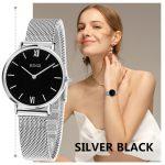 BINZI Women Watches Luxury Brand Quartz Watch Women Gold <b>Silver</b> <b>Bracelet</b> Watch Ladies Fashion Wristwatch Clock Relogio Feminino
