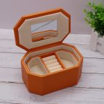 Strong PU Wooden Jewel Carrying Box Leather Two Layers Case Portable Travel Jewel Displayer Ring <b>Necklace</b> Ring <b>Jewelry</b> Case