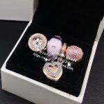 4pcs Rose Gold <b>Jewelry</b> Set Sterling Silver Heart CZ Dangle Charms Beads Fit DIY Bracelet Necklaces <b>Jewelry</b> <b>Making</b> Woman Gift