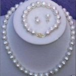 11-12MM NATURAL SOUTH SEA BAROQUE WHITE PEARL NECKLACE BRACLET <b>EARRING</b> 925silver