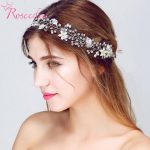 <b>Fashion</b> floral handmade wedding hair <b>jewelry</b> bridal hair accessory pearl hair vine bridesmaid silver headpieces RE713