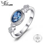 JewelryPalace Elegant 1ct Oval Shape Genuine London Blue Topaz Ring SOlid 925 Sterling <b>Silver</b> Anniversary Fine <b>Jewelry</b> For Women