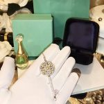 Classic Brand Pure 925 Sterling <b>Silver</b> Jewelry For Women Big Key Pendant Yellow Crystal Long <b>Necklace</b> Wedding Engagement Jewelry