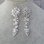 HIBRIDE European and American Wholesale Zircon Earrings <b>Wedding</b> Dress Square Marquise Earrings <b>Jewelry</b> Brinco for Woman E-596