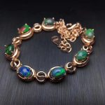 Elegant round natural black opal Bracelet Natural gemstone bracelet S925 <b>silver</b> Romantic woman girl party gift fine <b>jewelry</b>