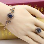 Fashion <b>Handmade</b> Turkey Bracelets for Women 4 <b>Jewelry</b> Antique Gold Color Love Bracelet Crystal Vintage Turkish Classic Bangles