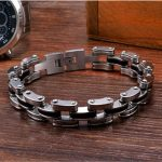 Mechanical Motocycle Thick Chain Bracelet Men In Titanium Stainless Steel Mens <b>Jewelry</b> Fashion Industrial Design Men <b>Accessory</b>
