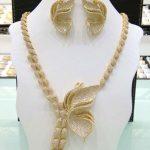 GODKI Butterfly Luxury Gold Women Wedding Naija Bridal Cubic Zirconia <b>Necklace</b> Earring Dubai Dress <b>Jewelry</b> Set