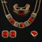 red Flower <b>Jewelry</b> sets Gold Color Bridal Wedding Amazing african beads <b>jewelry</b> set chain women Jewellery Sets
