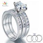 Peacock Star 2 Carat Round Cut Solid Sterling 925 Silver 3-Pcs <b>Wedding</b> Engagement Ring Set <b>Jewelry</b> CFR8101