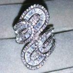 <b>Handmade</b> Cross Flower <b>Jewelry</b> 925 Sterling Silver ring Sona 5A zircon Stone Engagement Wedding Band Ring for women men Gift