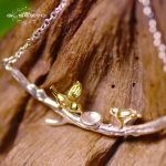 GLSEEVO Real 925 Sterling Silver Pendant Necklace For Women Daughter Gold Color Bird Tree Necklaces <b>Handmade</b> <b>Jewelry</b> Gift GN0009