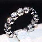 High Quality Drop Shipping <b>Handmade</b> Fashion <b>Jewelry</b> 925 Sterling Silver Clear CZ Brand New Women Custom Wedding Band Ring Gift