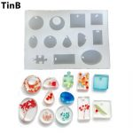 12Design Cabochon Silicone Mold Necklace Pendant Resin <b>Jewelry</b> <b>Making</b> Mould DIY Hand Craft Baking Cake Decorating Tool Christmas