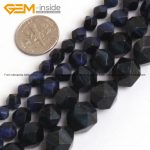Gem-inside Faceted Beads Of Cambay Dyed Lapis Lazuli Blue Tiger Eyes Beads For <b>Jewelry</b> <b>Making</b> Necklace 6-12mm 15inches DIY