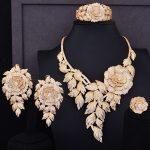 GODKI Super Luxury Boom Rose Flower Cluster Women Wedding Cubic Zirconia Statement <b>Necklace</b> Earring Bangle Ring <b>Jewelry</b> Set