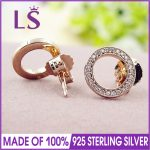 LS 925 Sterling Silver Rose Collection Forever Studs Earring For Women Wedding Party Fine <b>Jewelry</b> <b>Making</b> W