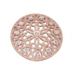 Supplier For <b>Jewelry</b> Wholesale Top Quality Micro Pave Zircon Luxury Round Pendant For Pearls Necklace Jewellery <b>Makings</b> Parts