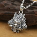 New! <b>Handmade</b> 925 silver Dragon pendant vintage thai silver strong Dragon pendant Man <b>jewelry</b> gift necklace pendant