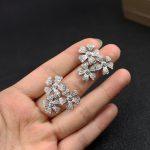 Brand Pure 925 Sterling Silver <b>Jewelry</b> For Women <b>Wedding</b> flower charm Earrings five Leaf Clover Stud Earring silver <b>jewelry</b>